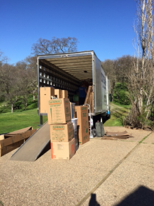 Loading boxes onto moving truck