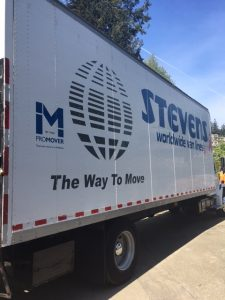 Mountain moving truck